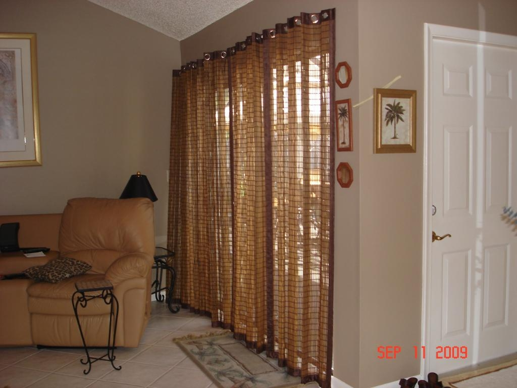 Patio Ideas Patio Door Curtain Rods With Bamboo Shade Curtain And With Regard To Bamboo Curtain Rods (Image 21 of 25)