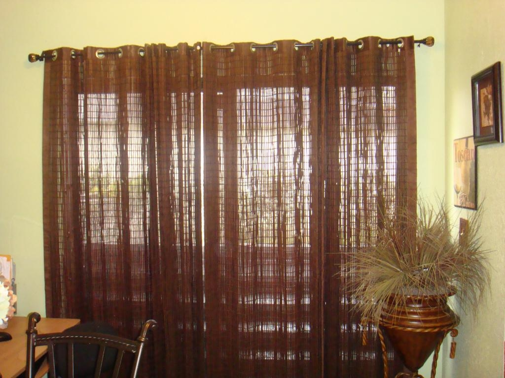 Patio Ideas Patio Door Curtain Rods With Bamboo Shade Curtain And Within Bamboo Curtain Rods (Image 22 of 25)