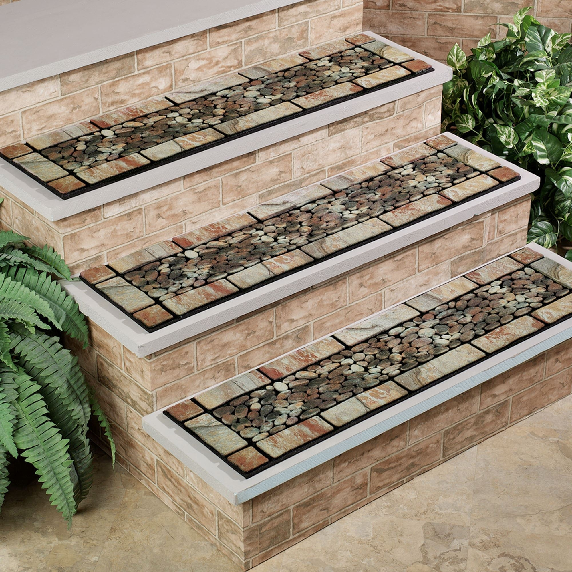 Patio Stone Stair Treads In Rectangular Stair Treads (Image 8 of 15)