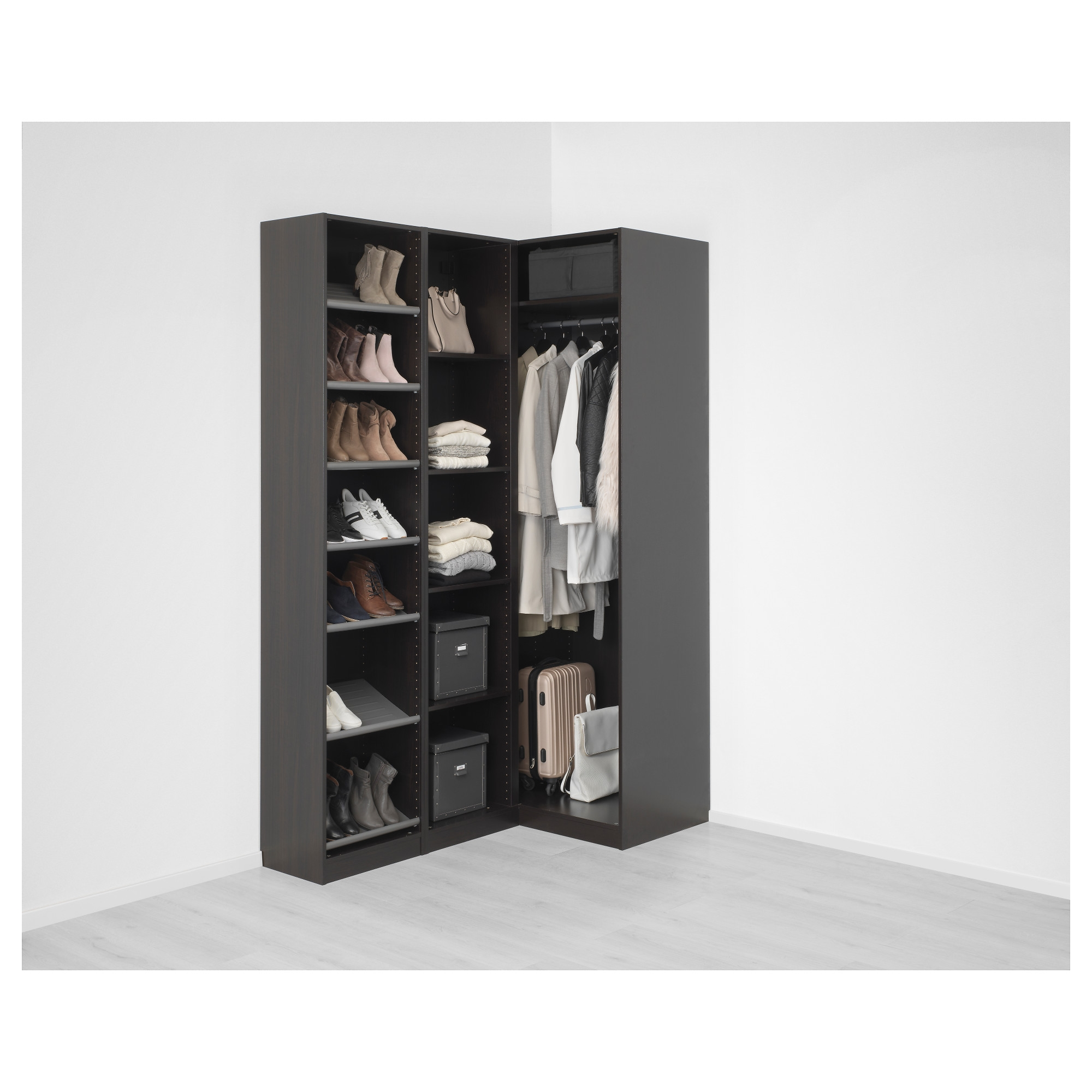 Pax Corner Wardrobe Black Brownnexus Vikedal 16088×236 Cm Ikea Within Corner Wardrobe Closet IKEA (View 25 of 25)