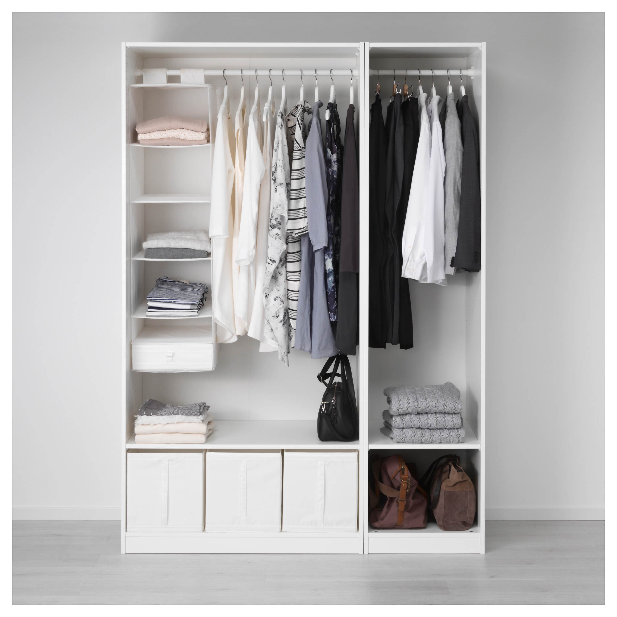 Pax Wardrobe Whitevikedal Mirror Glass 150x60x201 Cm Ikea Throughout Cupboard Inserts For Wardrobes (Image 17 of 25)