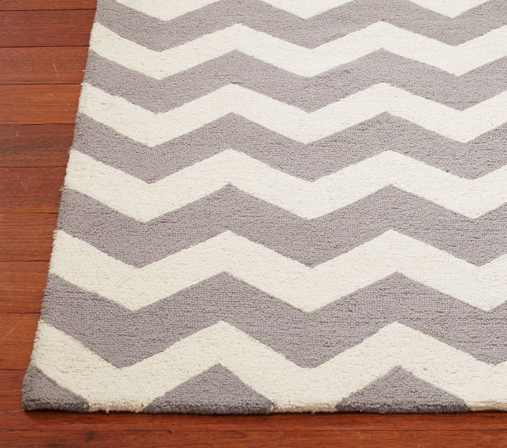 Pbkids Grey Chevron Rug Getting This For Paytens Room Home Throughout Black And Grey Chevron Rugs (Image 15 of 15)