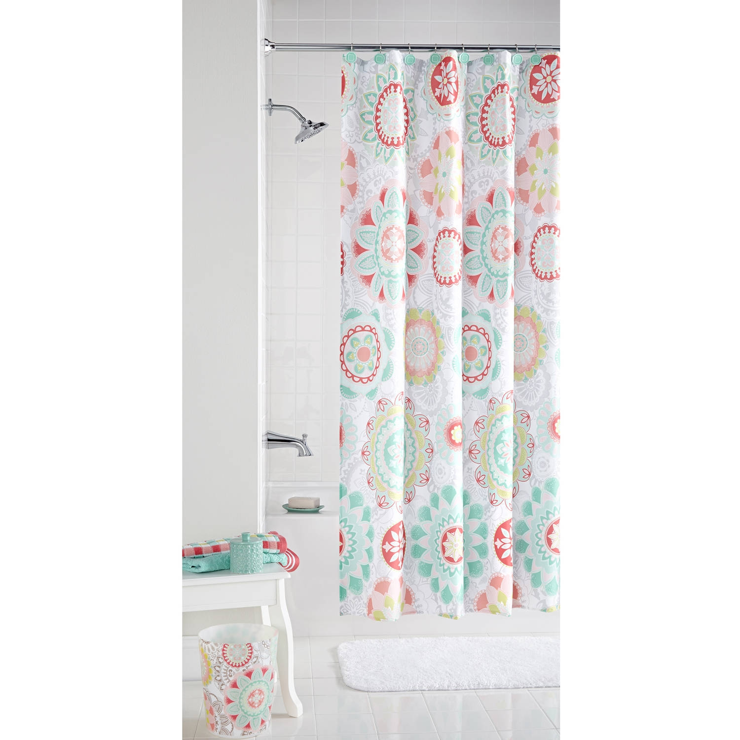Peach Colored Shower Curtain Curtains Decoration For Peach Colored Curtains (Image 16 of 25)
