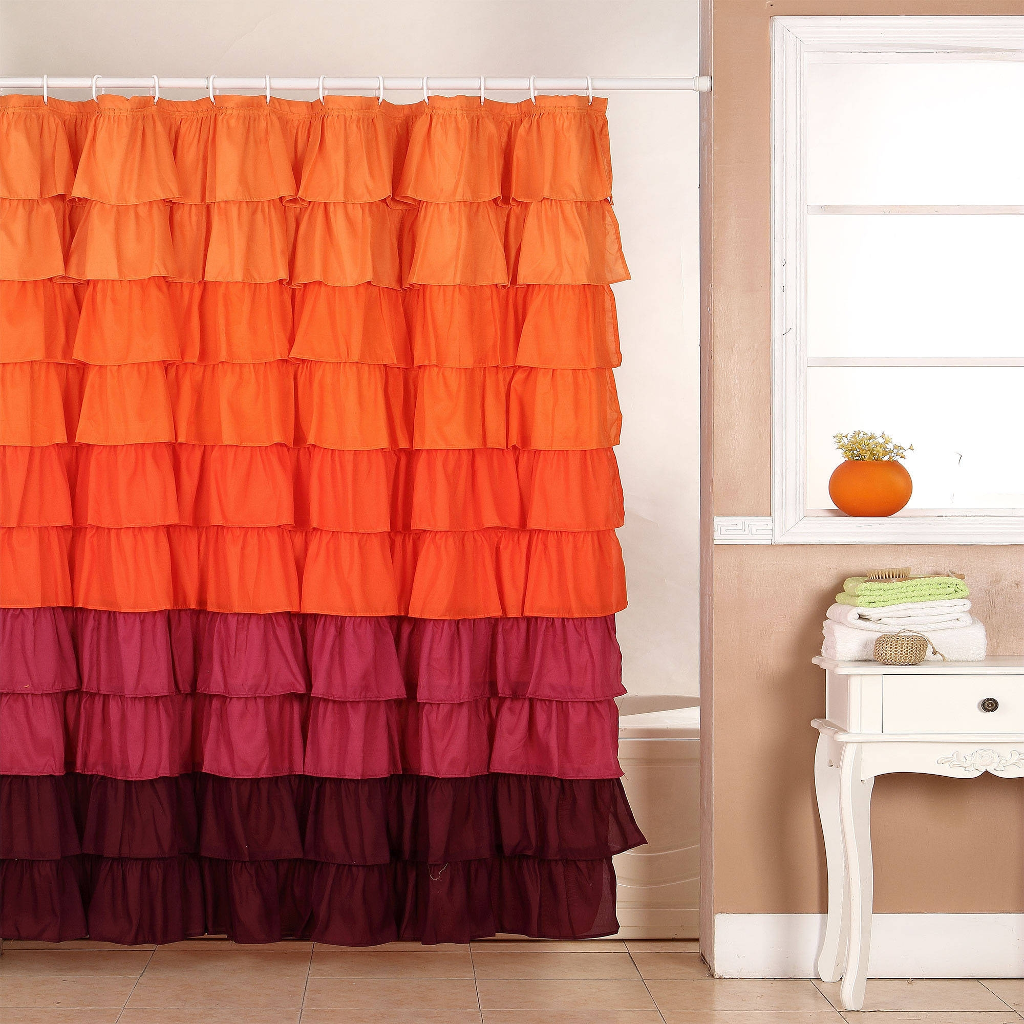 Peach Shower Curtain Curtains Decoration For Peach Colored Curtains (Image 18 of 25)