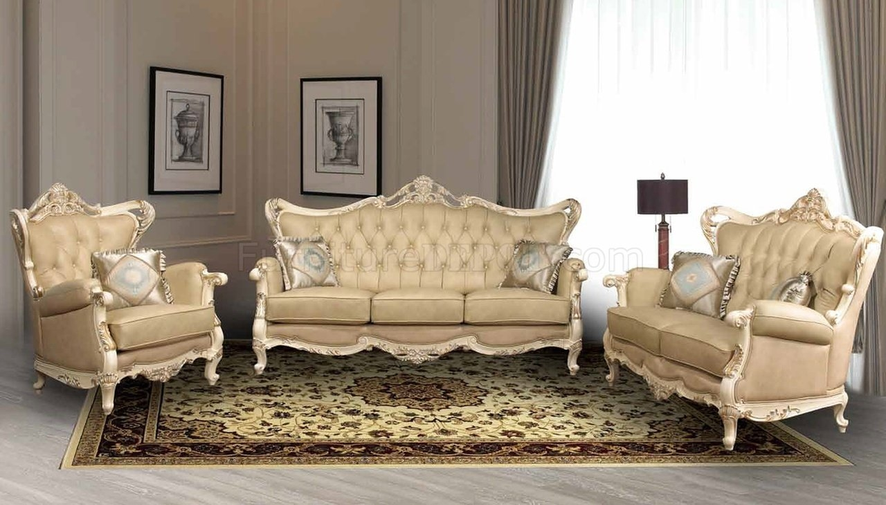 Pearl Traditional Leather Sofa Woptional Loveseat Chair For Traditional Leather Couch (Image 9 of 15)