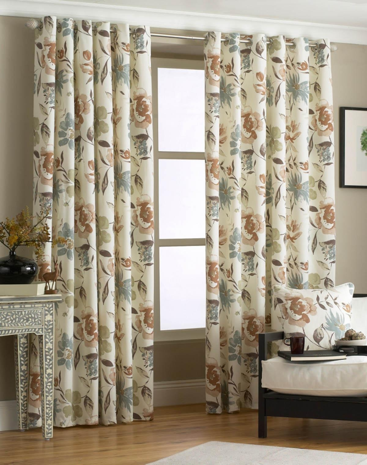 Penelope Ready Made Eyelet Curtains Free Uk Delivery Terrys Pertaining To Brown Eyelet Curtains (Image 18 of 25)