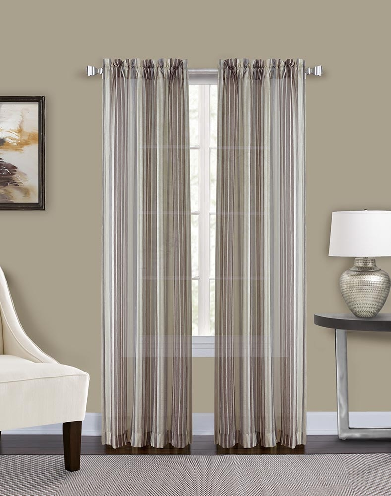 Percy Semi Sheer Stripe Curtain Panel Curtainworks With Stripe Curtains (Image 21 of 25)
