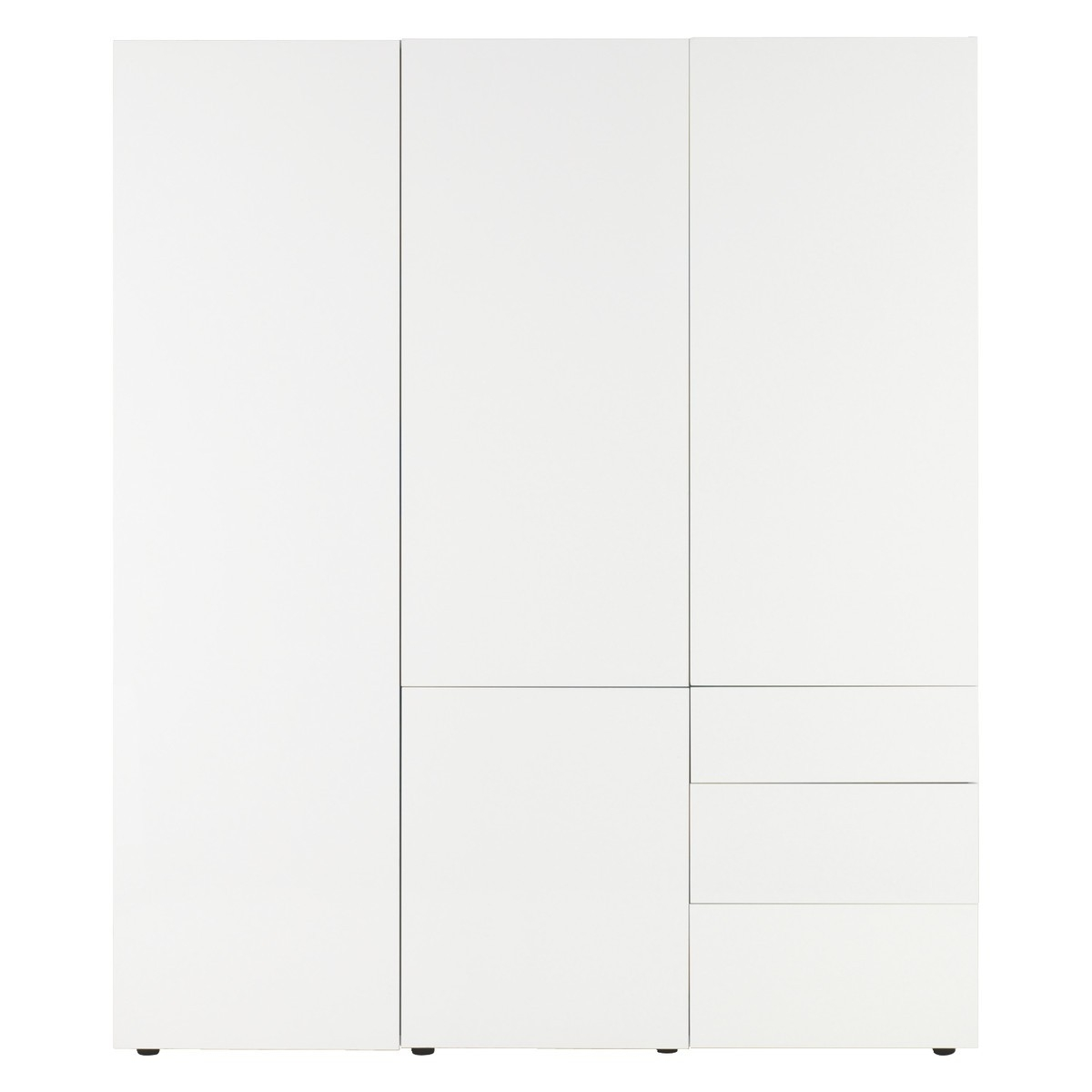 Perouse White 3 Door Wardrobe 180cm Width Buy Now At Habitat Uk Within 3 Door White Wardrobes (Image 15 of 25)