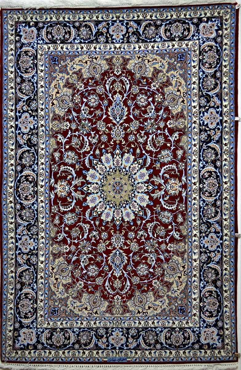 Persian Rug Blue Roselawnlutheran Within Blue Persian Rugs (View 9 of 15)