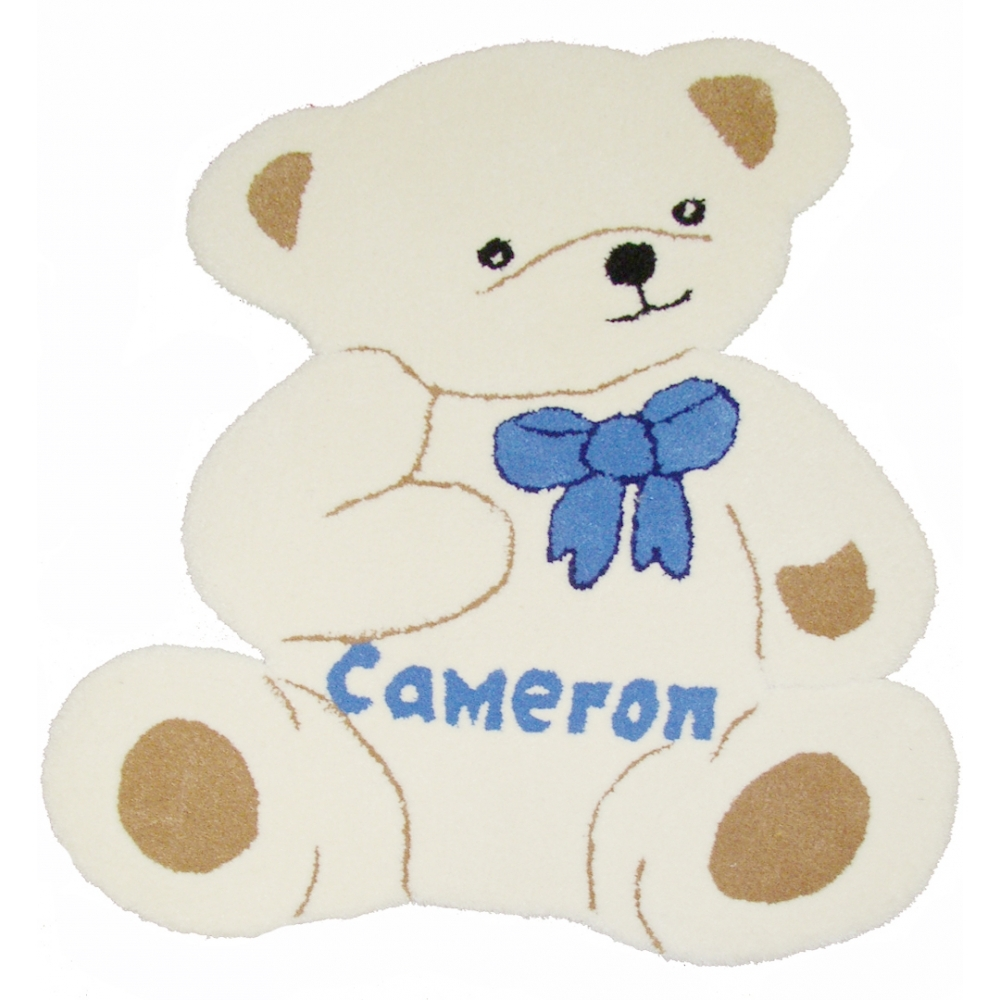 Personalised Cream Teddy Bear Rug In Teddy Bear Rugs (Image 12 of 15)