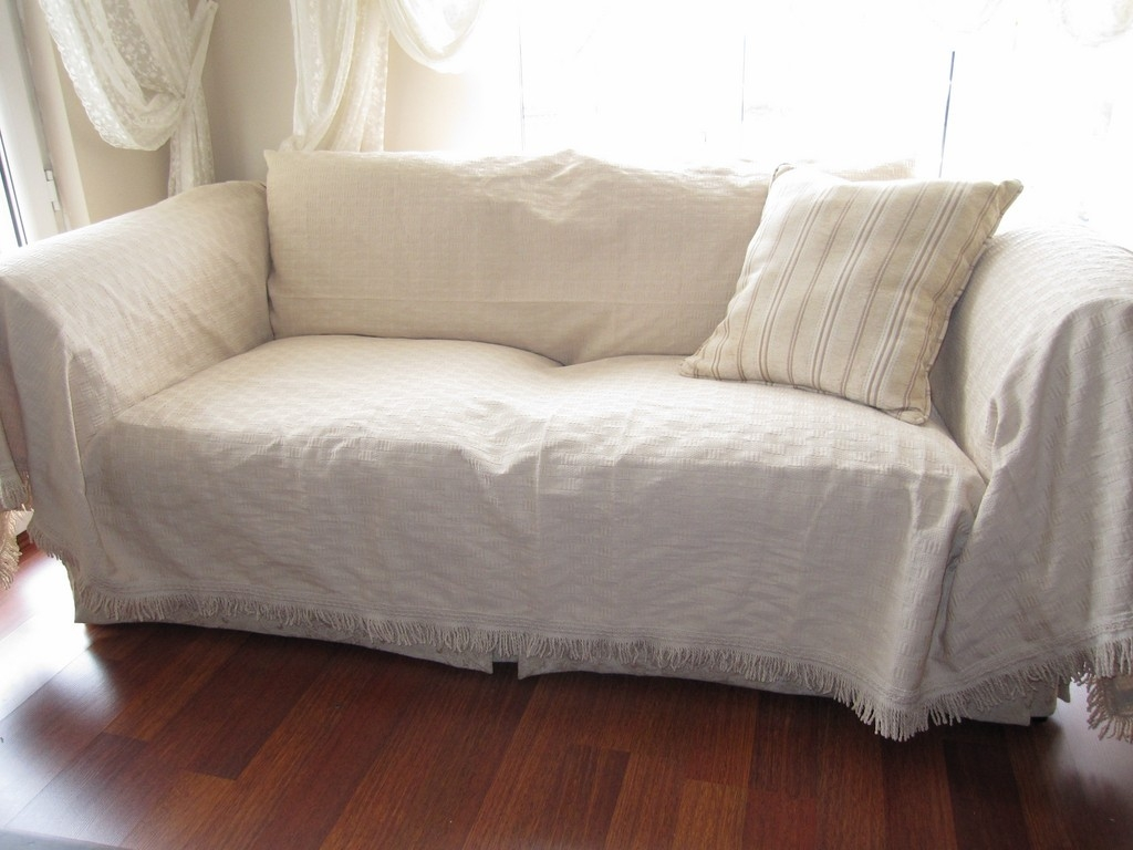 Pet Couch Cover In Cotton Throws For Sofas And Chairs (Image 8 of 15)
