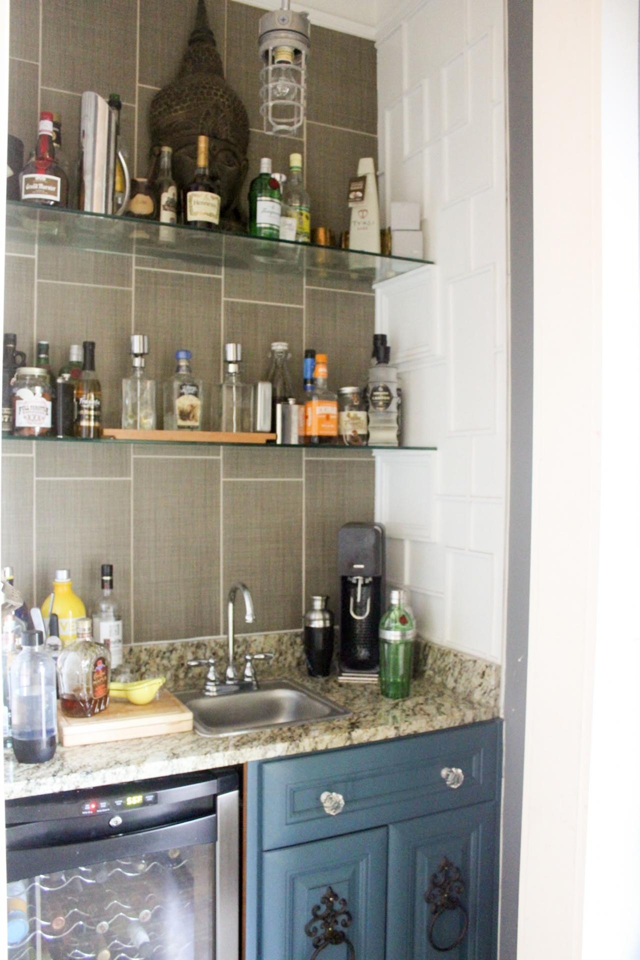Photos Flea Market Flip Hgtv Throughout Glass Shelves For Bar Area (View 6 of 15)