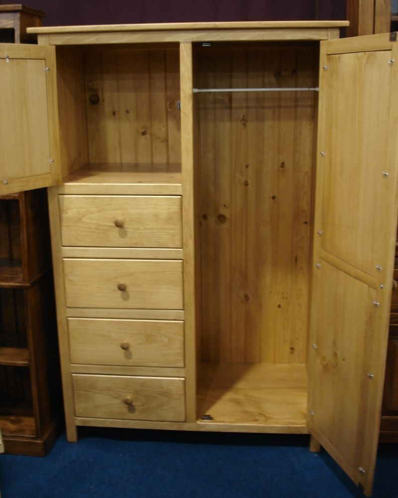 Pine Wood Wardrobe Armoire From Dutchcrafters Amish Furniture Inside Solid Wood Wardrobe Closets (Image 19 of 25)