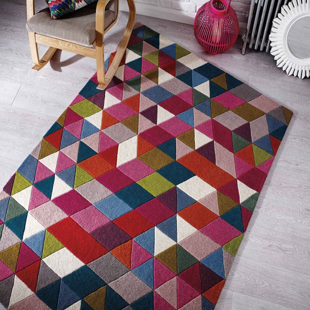 Pink Rugs Bright Rugs Pink Rugs For Sale Therugshopuk With Regard To Pink Pattern Rugs (Image 13 of 15)