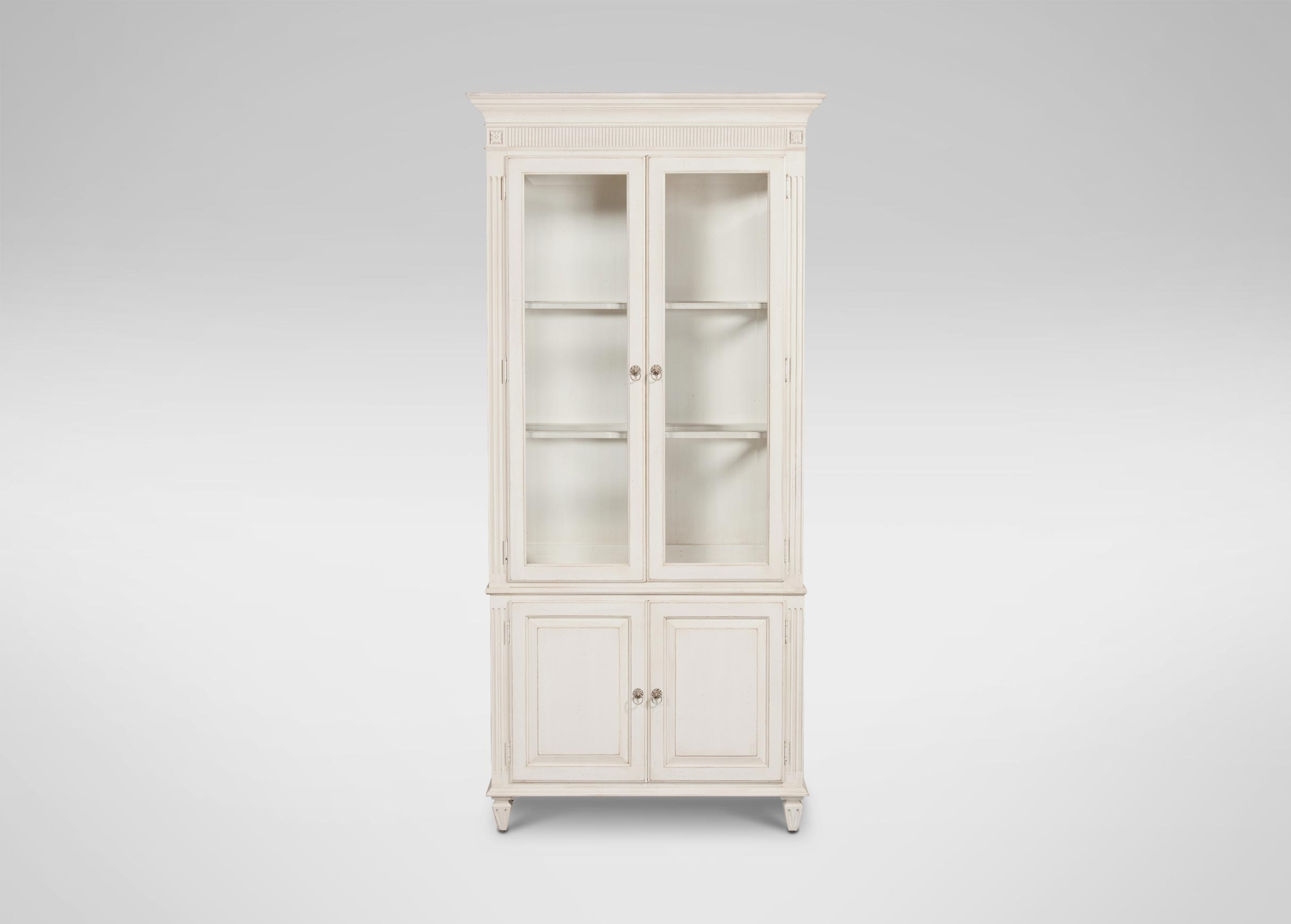 Pirre Curio Cabinet Cabinets Chests Within Bookcase With Bottom Cabinets (Image 11 of 15)