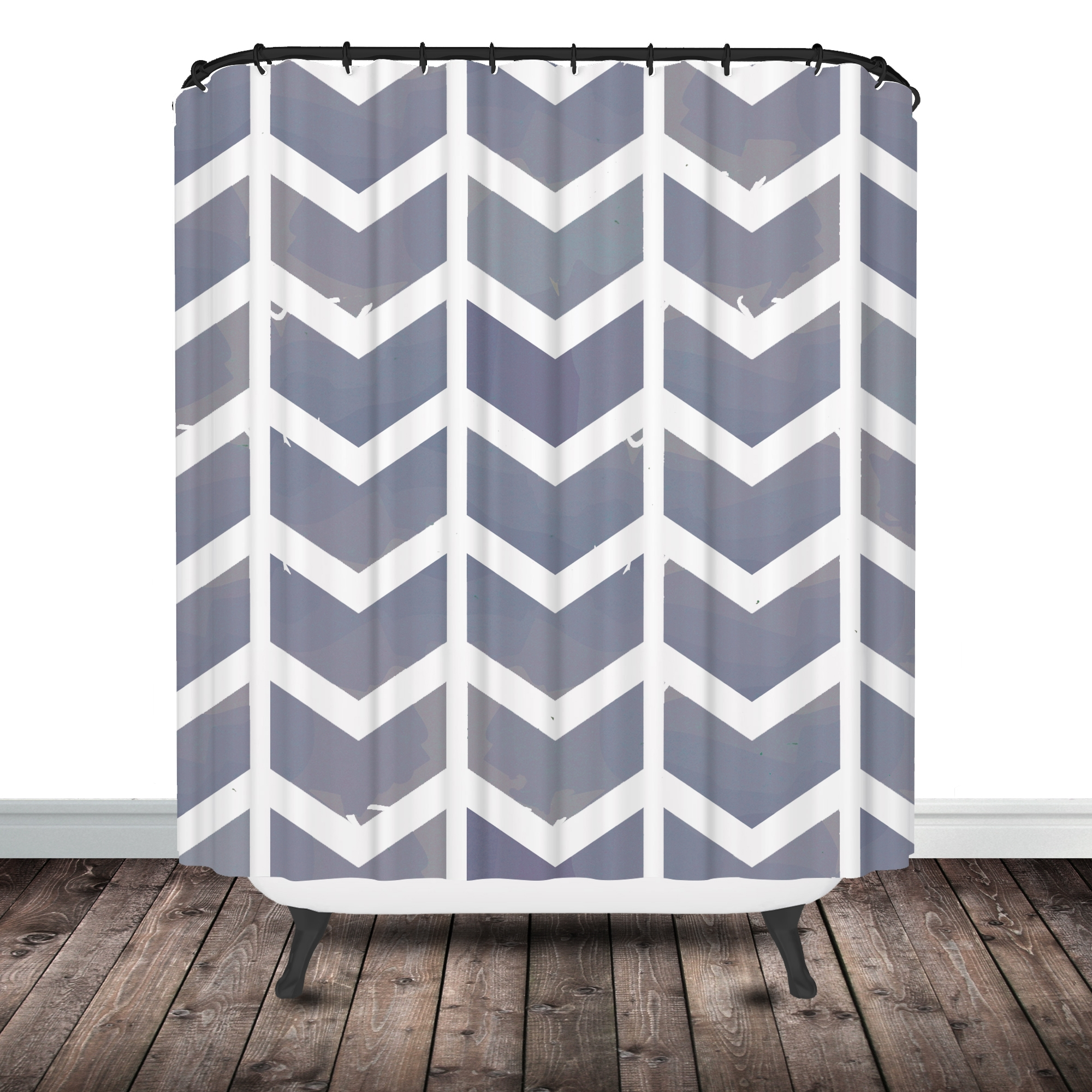 Plain Grey Chevron Shower Curtains Accessories Curtain Inside In Gray Chevron Shower Curtains (Image 20 of 25)