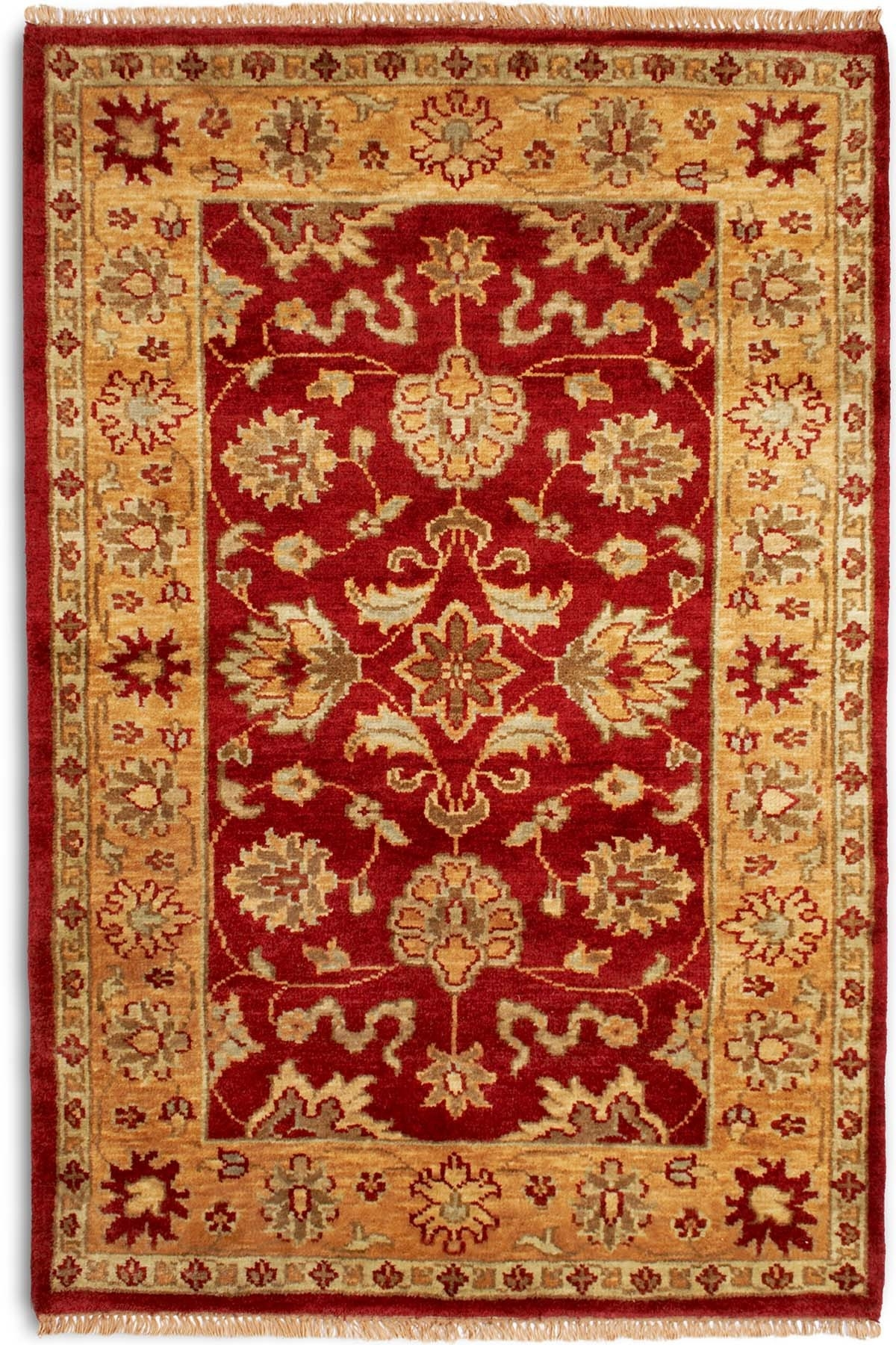 Plantation Taj Agra Red Rug Traditional Hand Knotted With Regard To Agra Rugs (Image 14 of 15)