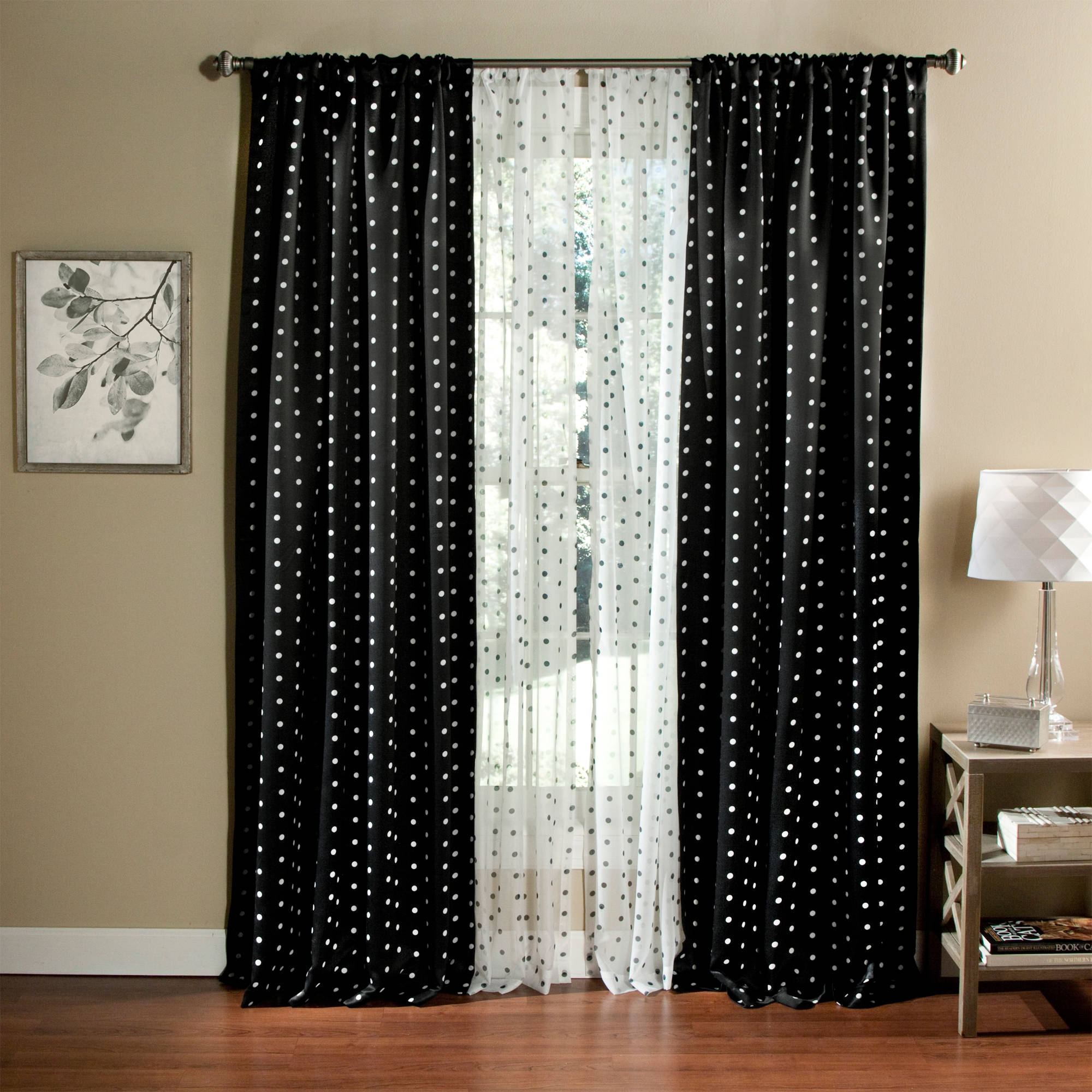 Featured Image of Navy And White Polka Dot Curtains