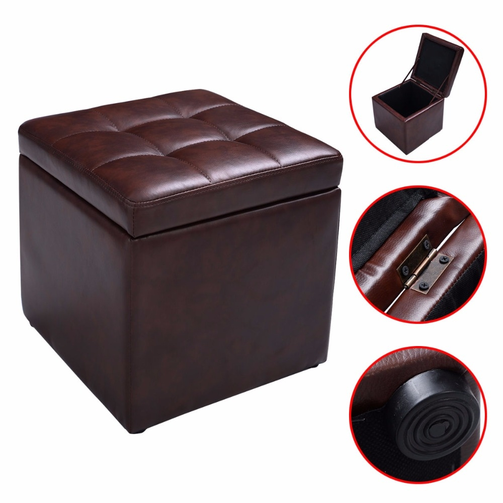 Popular Leather Storage Footstool Buy Cheap Leather Storage With Footstools And Pouffes With Storage (Image 8 of 15)