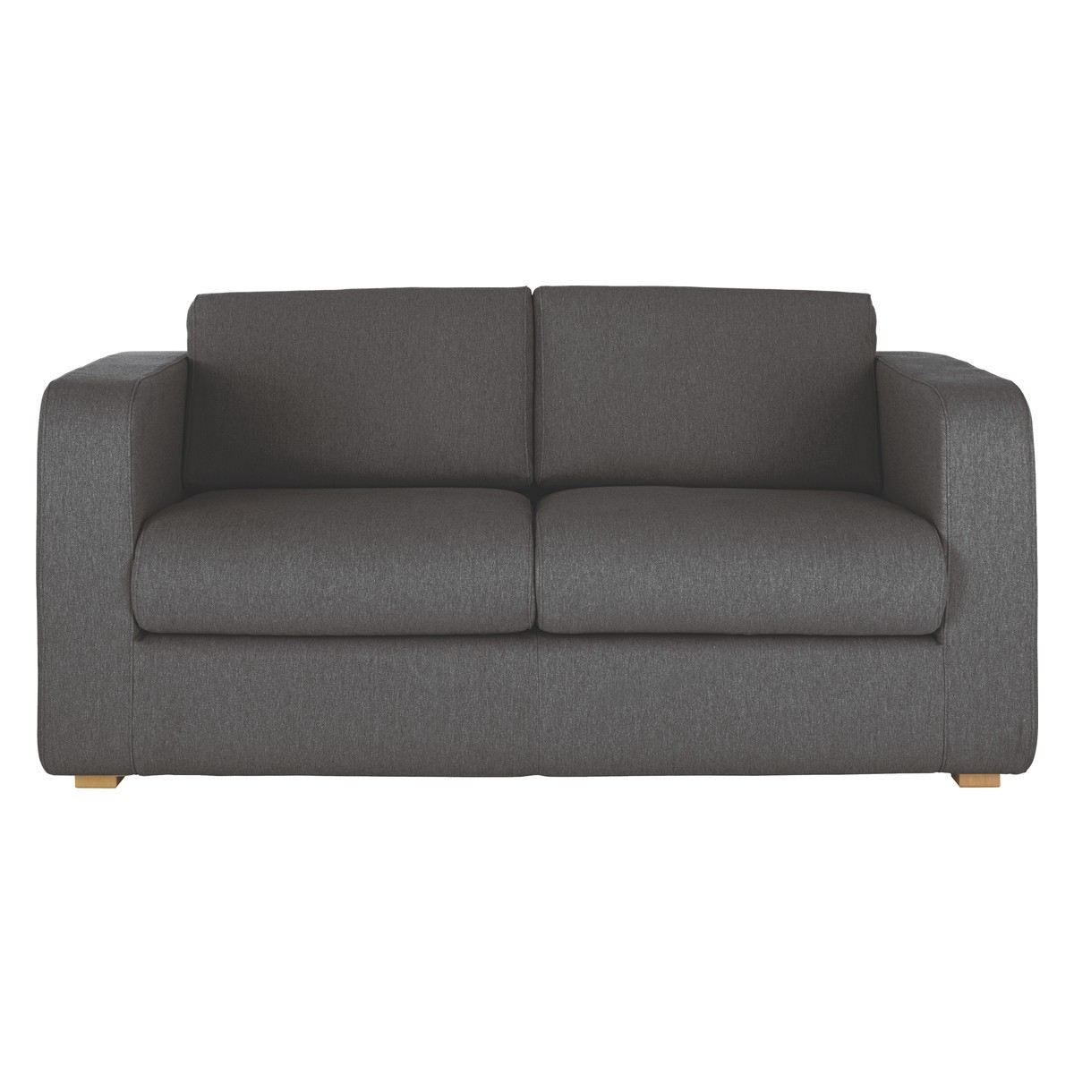 Porto Charcoal Fabric 2 Seater Sofa Bed Buy Now At Habitat Uk Regarding Two Seater Chairs (Image 10 of 15)