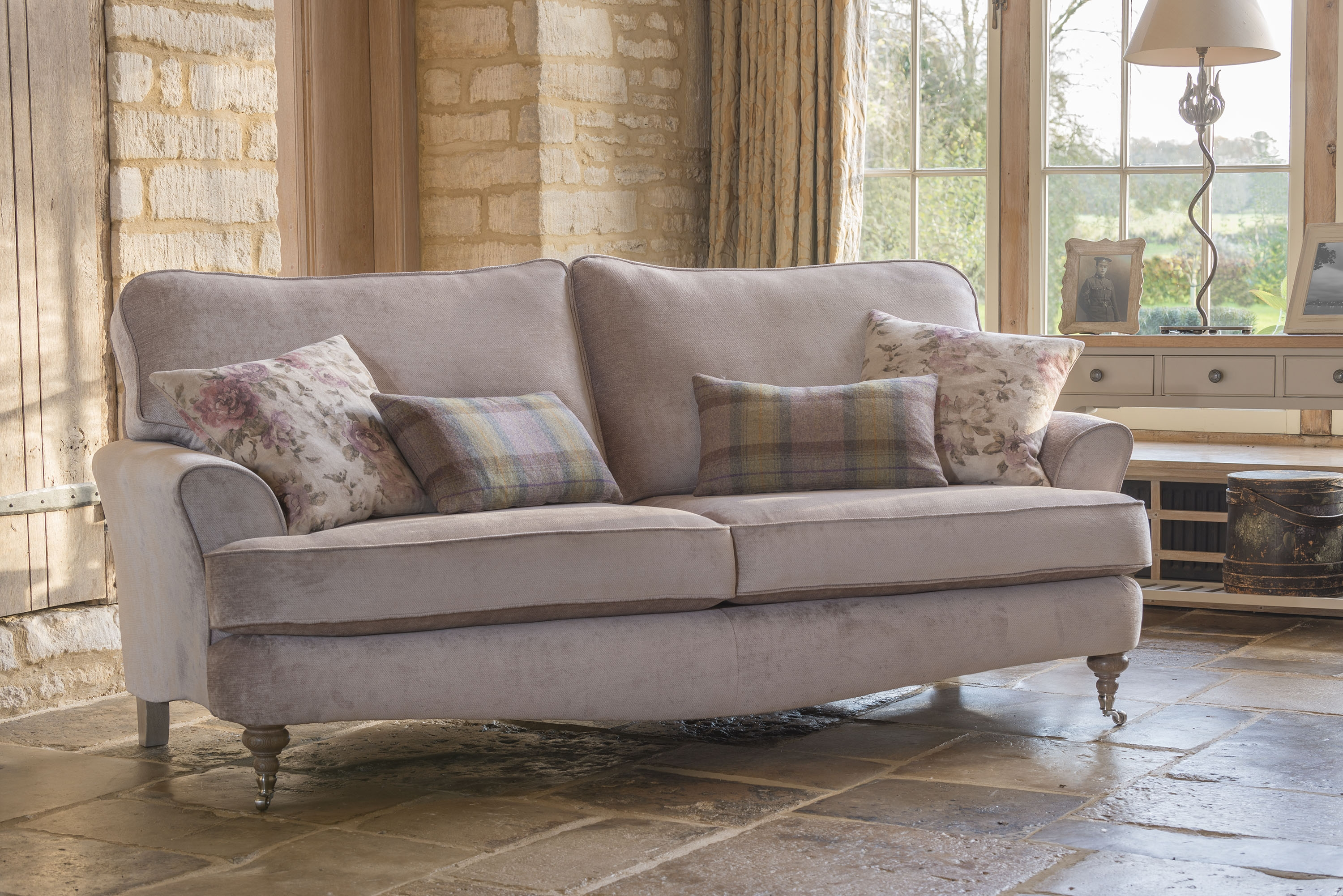 Prancer Stag Cushion Scarlet 2400 Pure Comfort Pure With Regard To Florence Grand Sofas (Image 14 of 15)