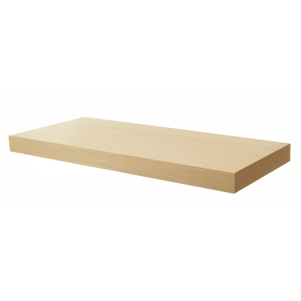 Pratica Tendenza Floating Shelf Oak Effect 25cm X 100cm At Wilko With Regard To Floating Shelf 100cm (Image 10 of 15)