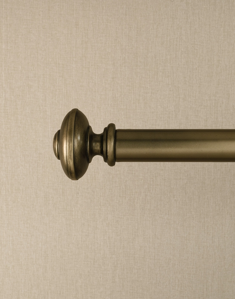 Preston Bronze Adjustable Curtain Rod Curtainworks Regarding Antique Curtain Rods (View 4 of 25)