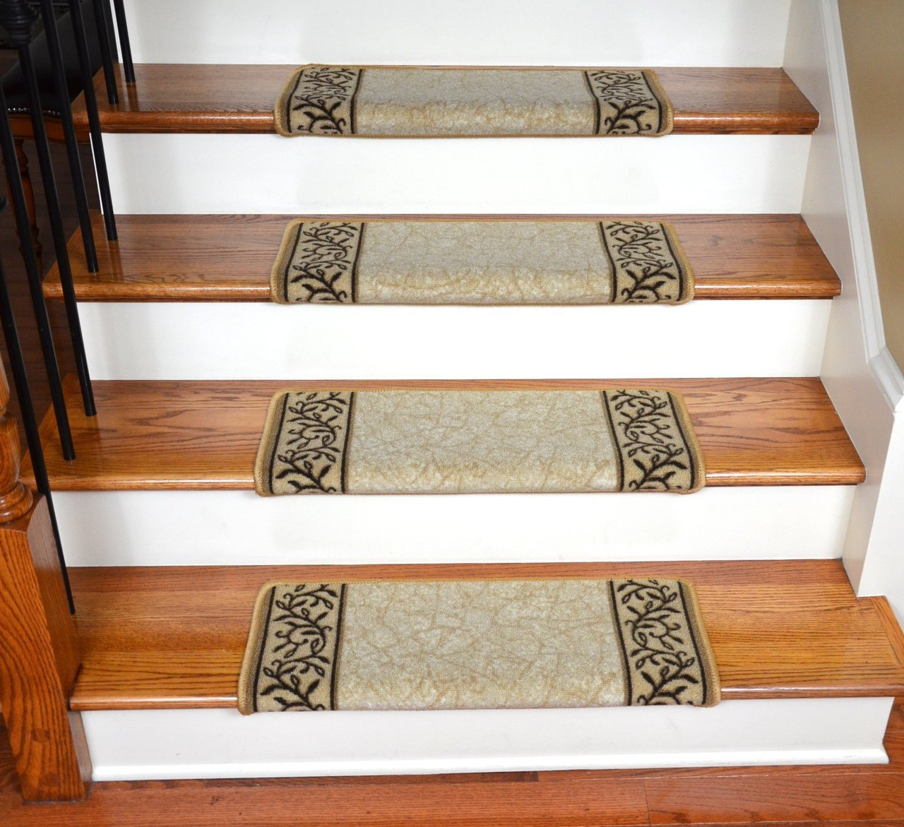 Professional Carpet Runner Install Vs Diy Stair Treads Throughout Diy Stair Tread Rugs (View 3 of 15)