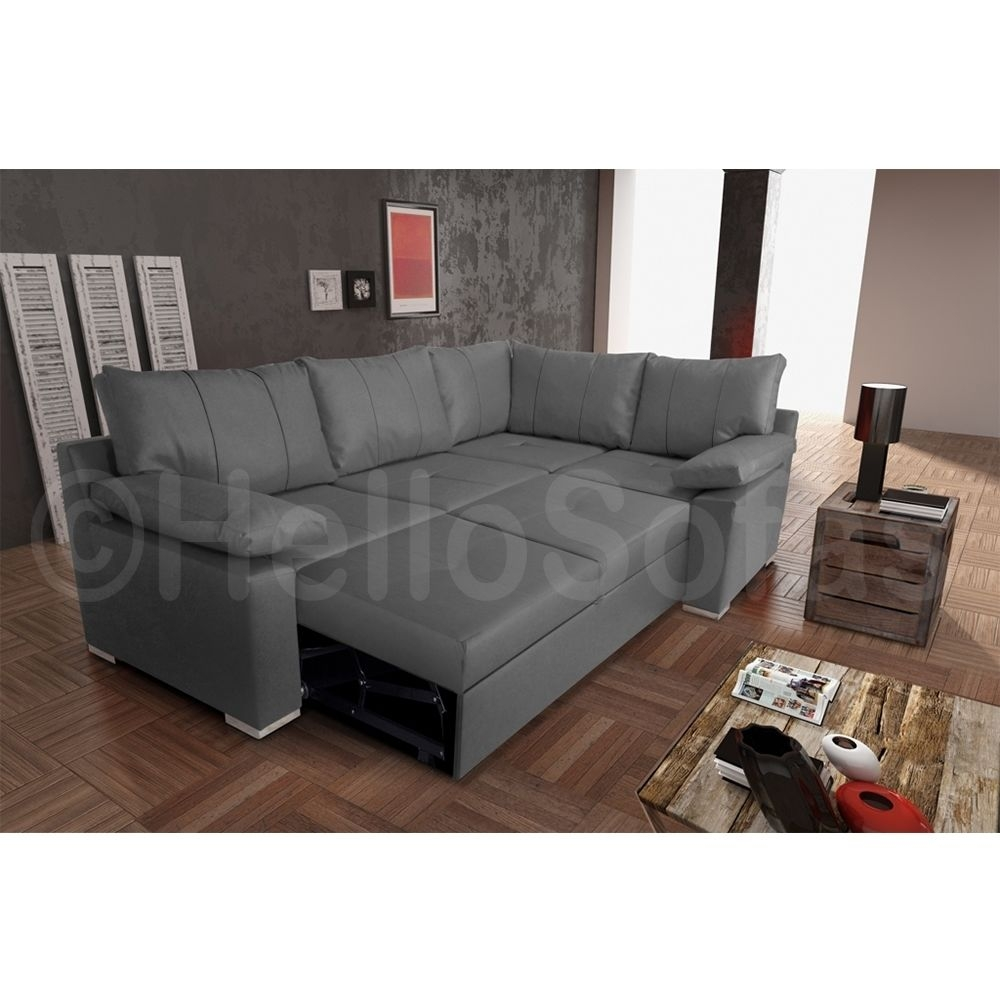 Pull Out Sofa Bed With Storage In Leather Corner Sofa Bed (Image 8 of 15)