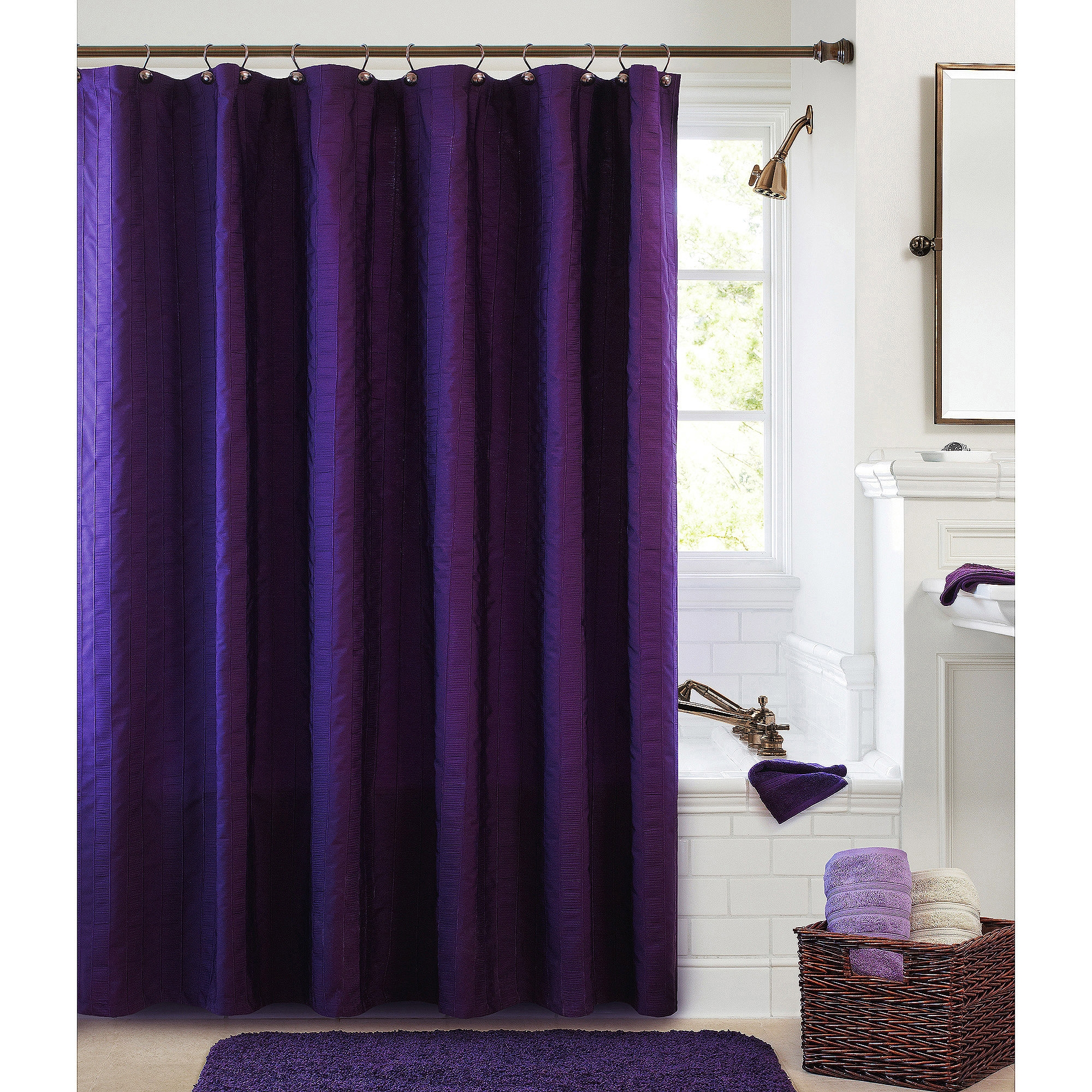 Purple Shower Curtains Walmart For Purple And Gold Curtains (Image 20 of 25)