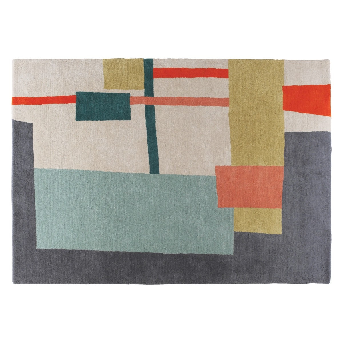 Quentin Large Multi Coloured Wool Rug 170 X 240cm Buy Now At Pertaining To Multicoloured Wool Rugs (Photo 7 of 15)