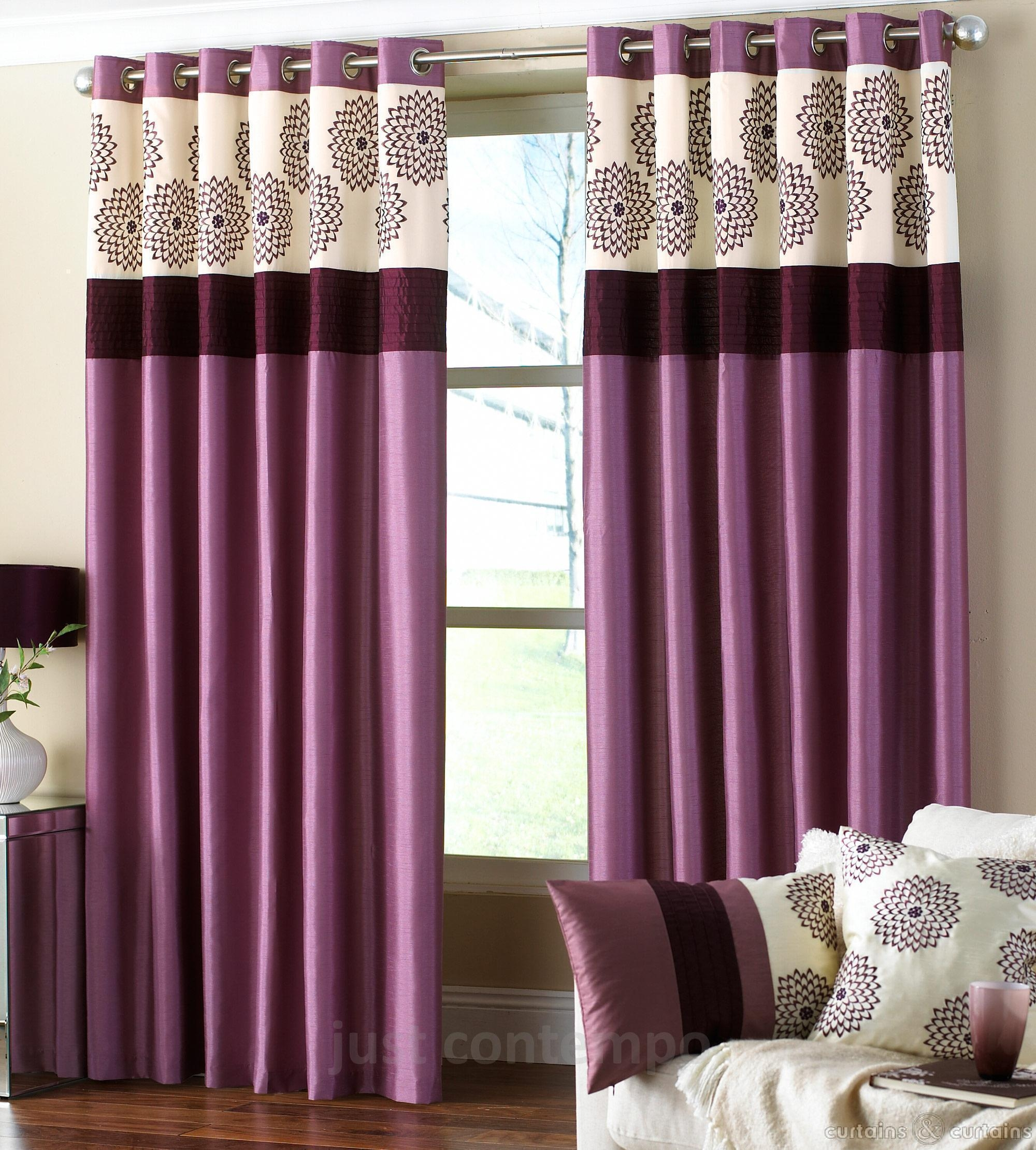 Quiddity Yellow And Grey Floral Curtains Tags Mauve Velvet Throughout Mauve Sheer Curtains (Photo 17 of 25)