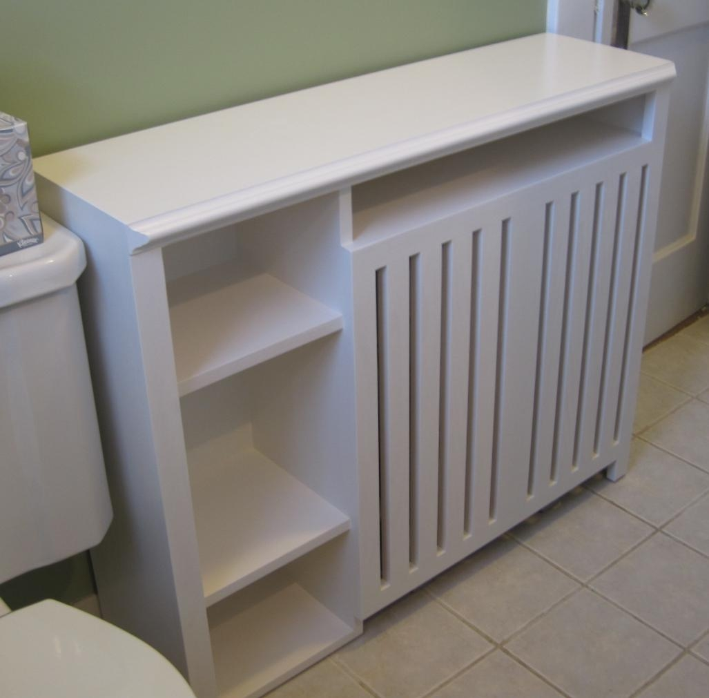 Radiator Enclosure Cabinet Custom Built For A Small Bathroom Pertaining To Radiator Bookcase Cabinets (Image 11 of 15)
