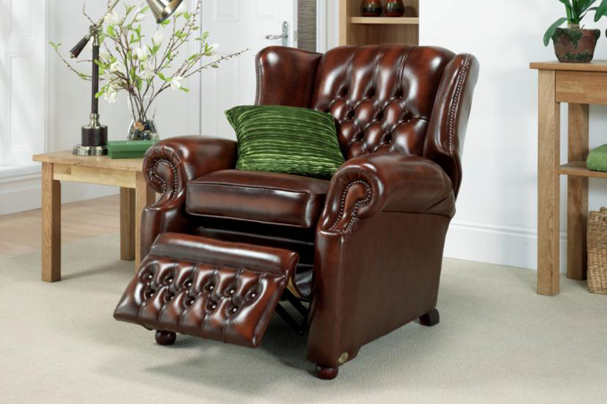 Recliners Springvale Leather Furniture With Regard To Chesterfield Recliners (View 6 of 15)
