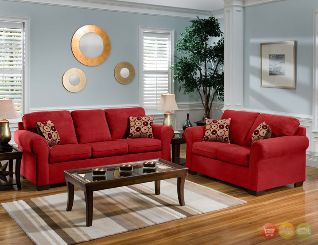 Red Couch Living Room Cabot Red Casual Seating Collection Home With Regard To Red Sofas And Chairs (Image 9 of 15)