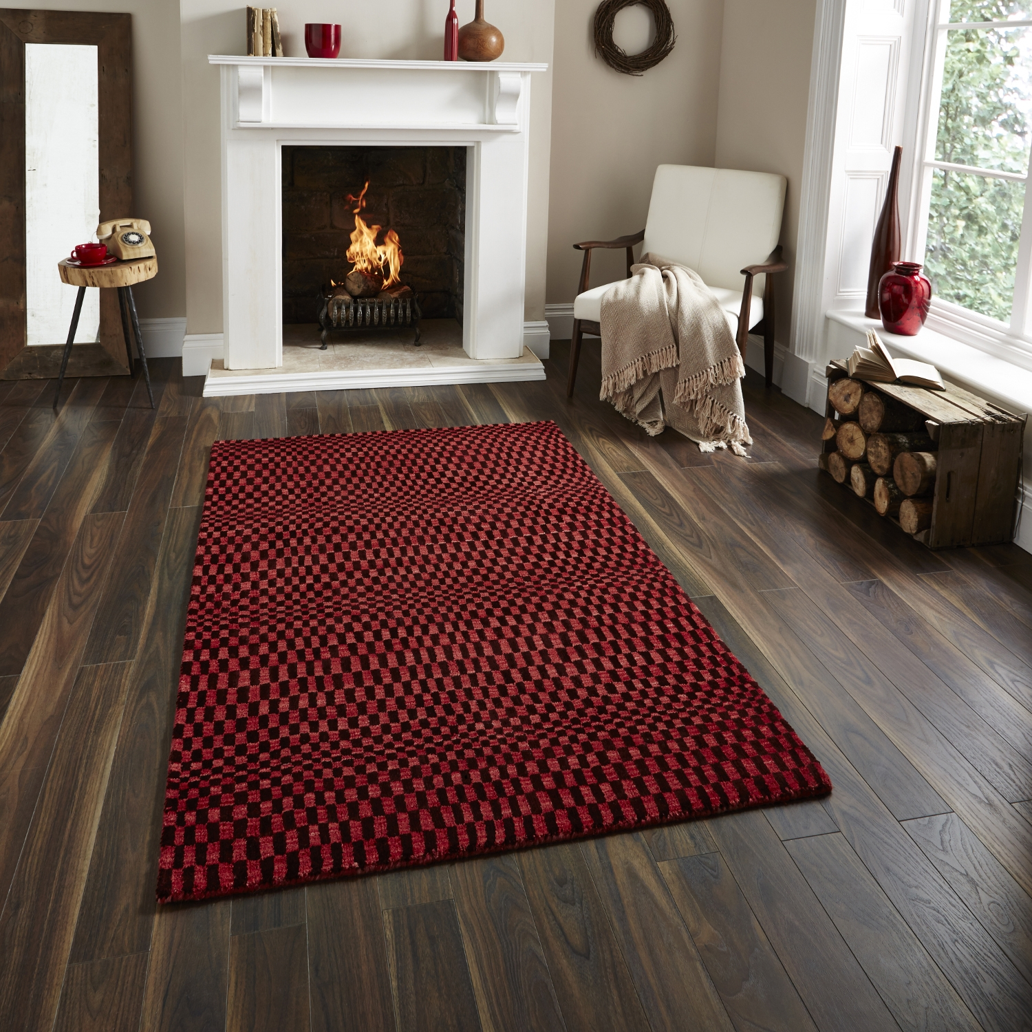Red Floor Rugs Home Decors Collection Within Large Floor Rugs (Image 11 of 15)