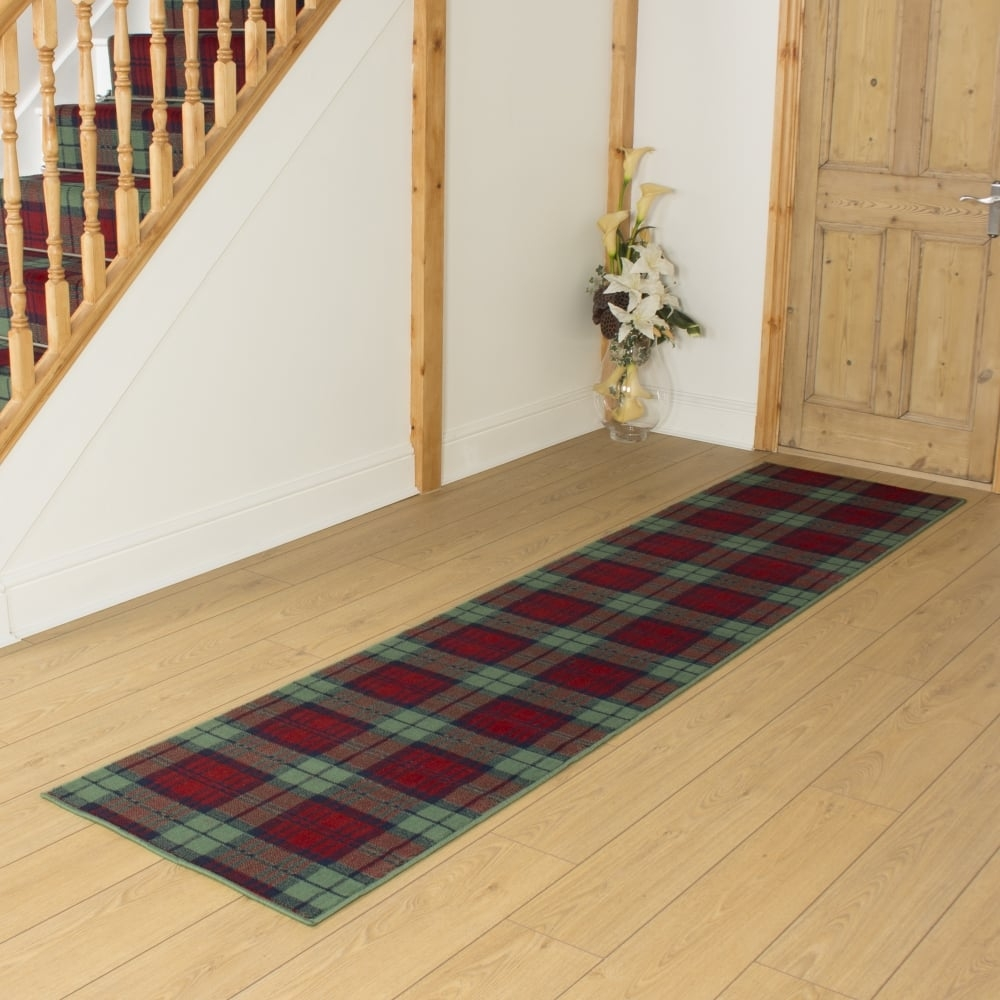 Red Green Hallway Carpet Runner Tartan Hallways Pinterest Throughout Carpet Runners For Hallway (Image 10 of 15)