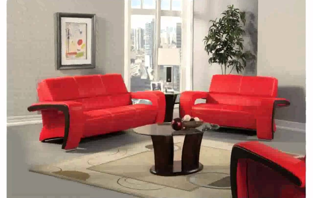 Red Leather Couch Decorating Ideas Youtube Regarding Red Sofa Chairs (Image 7 of 15)