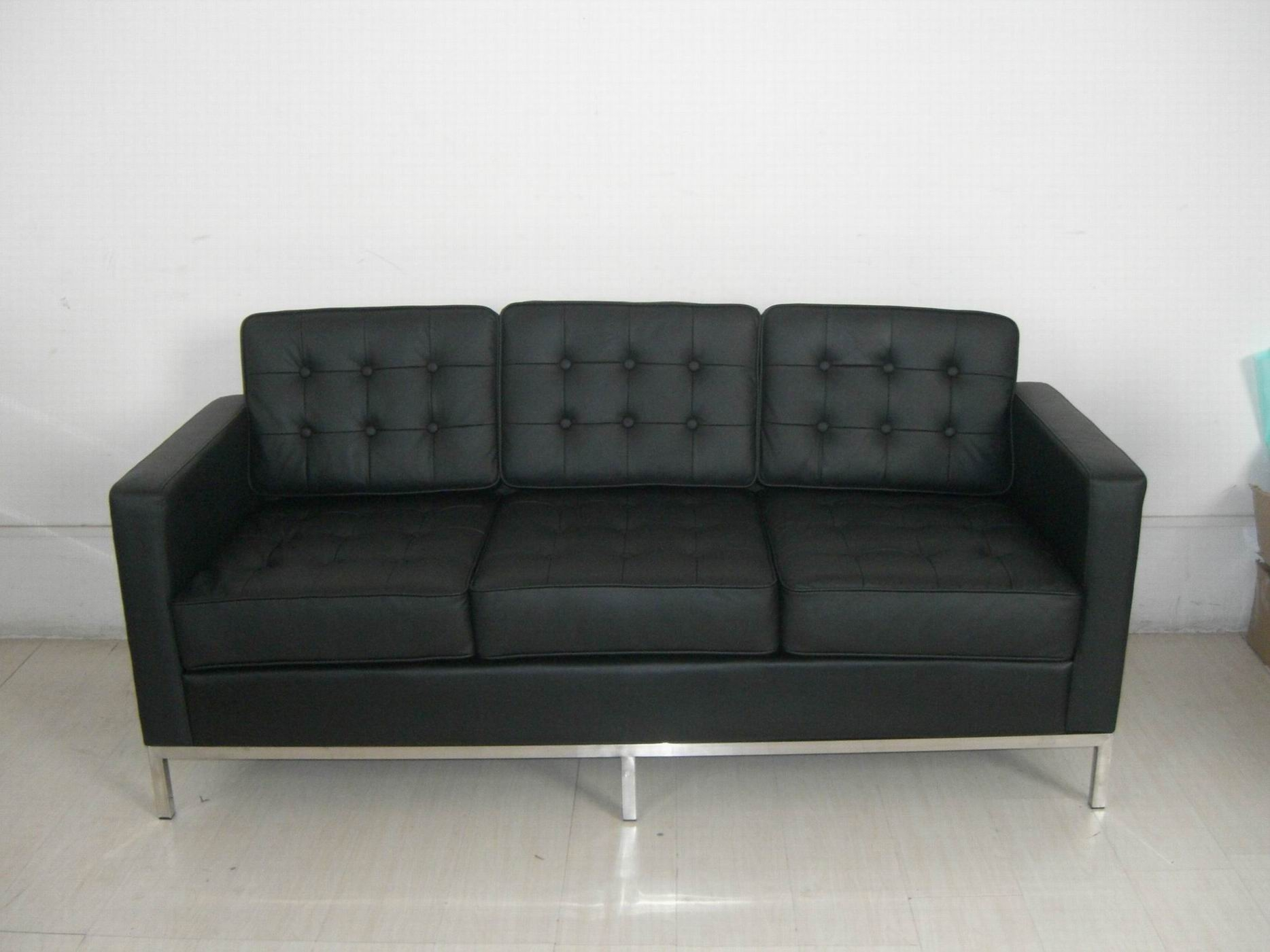 Red Leather Sofa Black Leather Sofas S3net Sectional Sofas Throughout Florence Leather Sofas (Image 11 of 15)