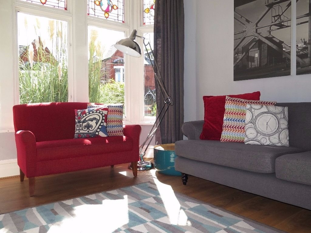 Red Ms Marks Spencer Whitley Loveseat Snuggle Chair Sofa In Marks And Spencer Sofas And Chairs (Image 15 of 15)
