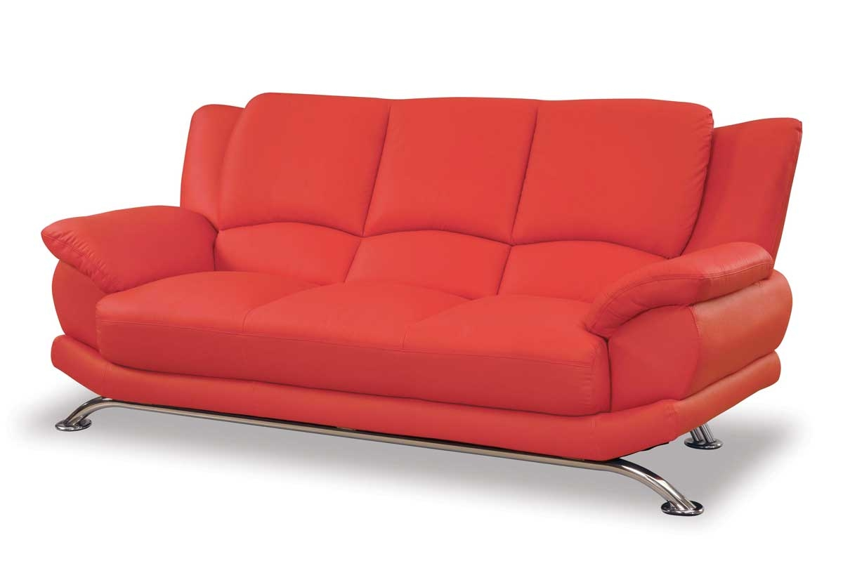 Red Sofa Furniture Raya Furniture Regarding Red Sofa Chairs (Image 10 of 15)