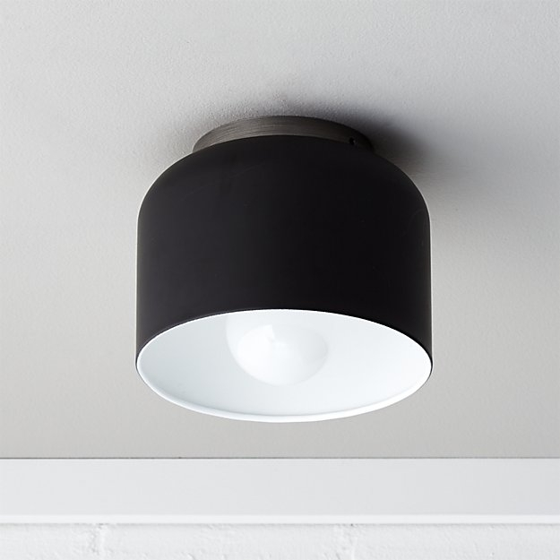 Remarkable Best Cb2 Light Fixtures With Regard To Bell Black Flush Mount Lamp Cb (View 20 of 25)