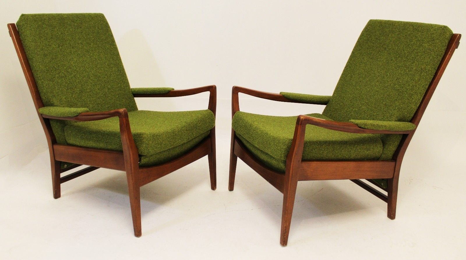 Remarkable Best Cintique Mid Century Armchairs In Mid Century Modern Pair Of Cintique Walnut Chairs English Larsen (Image 13 of 15)