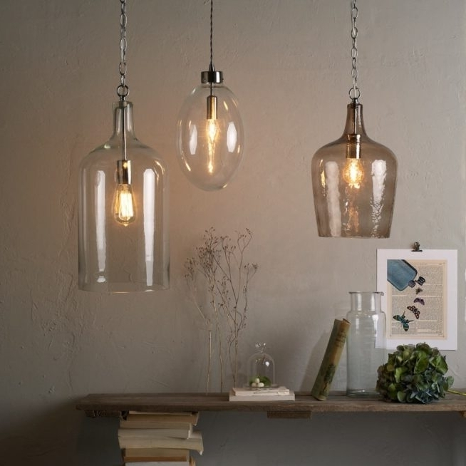 Remarkable Best Glass Jug Pendant Lights With Regard To Glass Jug Pendant Light Panels World (View 22 of 25)