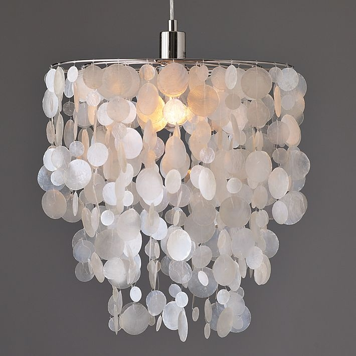 Remarkable Best Shell Light Shades Pertaining To Shell Light Shades Pendant Tequestadrum (Image 23 of 25)