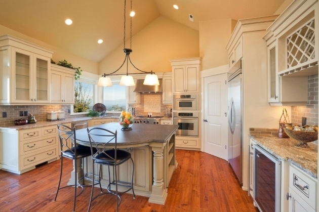 Remarkable Best Vaulted Ceiling Pendant Lights Within Fascinating Kitchen Lighting Vaulted Ceiling Kutsko Kitchen (View 21 of 25)