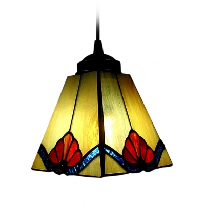 Remarkable Brand New Stained Glass Mini Pendant Lights Throughout Tawny Tiffany Art Stained Glass Style Mini Pendant Light In Square (View 12 of 25)