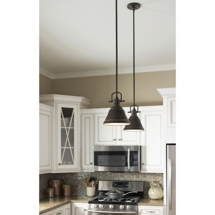 Remarkable Deluxe Mini Pendant Lights For Kitchen Throughout Shop Allen Roth 8 In W Bronze Mini Pendant Light With Metal (View 21 of 25)