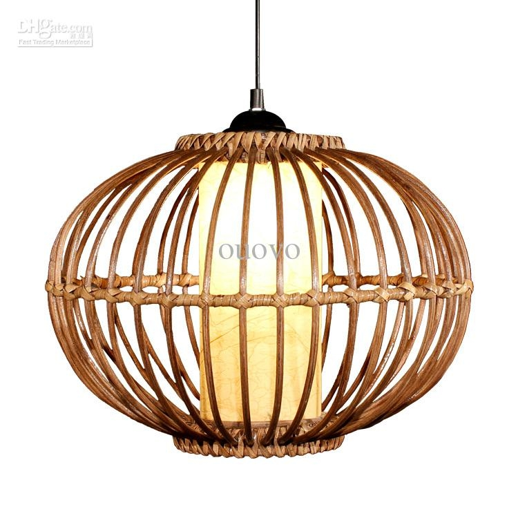 Remarkable Deluxe Rattan Pendant Light Fixtures Throughout Modern 14 Handmade Rattan Pendant Light Free Shipping Study (Image 21 of 25)