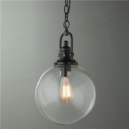 Remarkable Elite Glass Orb Pendant Lights Within Clear Glass Globe Industrial Pendant Globe Industrial And Pendants (Image 17 of 25)